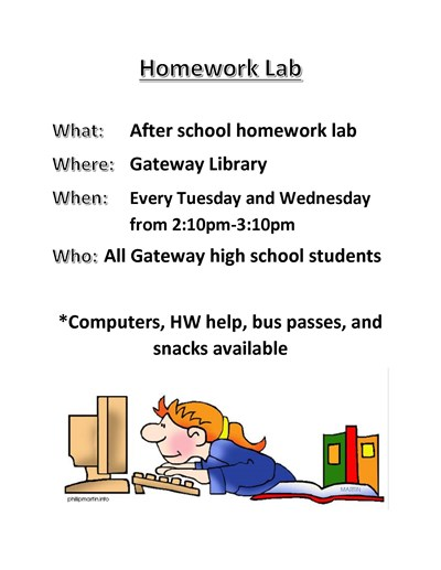 homework lab flyer